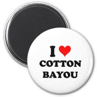 I Love Cotton Bayou 6 Cm Round Magnet