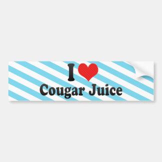 I Love Cougar Juice Bumper Sticker