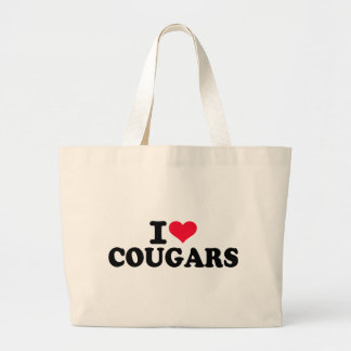 I love Cougars Tote Bags