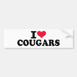 I love Cougars Bumper Stickers