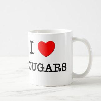 I Love COUGARS Coffee Mug