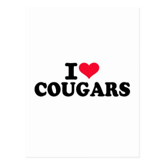 I love Cougars Post Cards