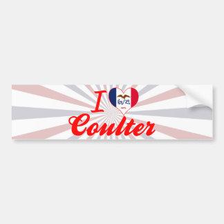 I Love Coulter Iowa Bumper Sticker