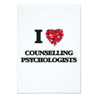 I love Counselling Psychologists 13 Cm X 18 Cm Invitation Card