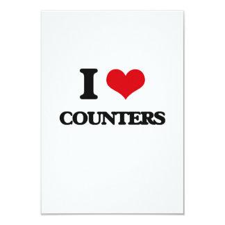 I love Counters 9 Cm X 13 Cm Invitation Card