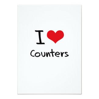 """I love Counters 5"""" X 7"""" Invitation Card"""
