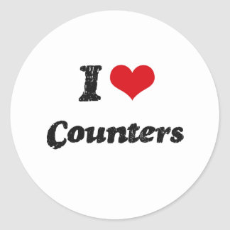 I love Counters Stickers