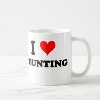 I Love Counting Basic White Mug