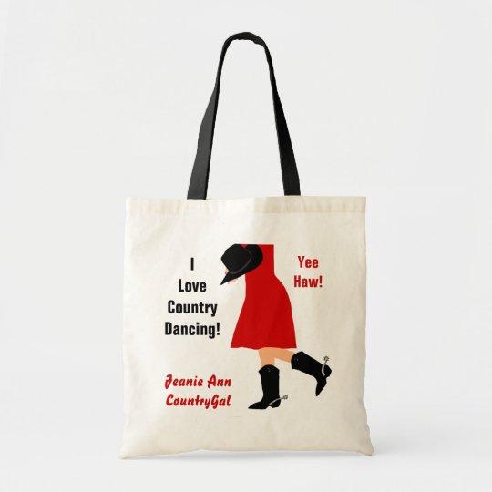 I Love Country Dancing! Yee Haw - Custom Tote Bag