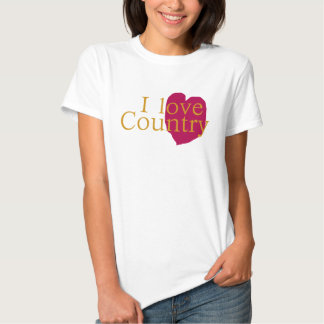 I Love Country Ladies T-Shirt