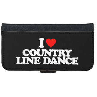 I LOVE COUNTRY LINE DANCE iPhone 6 WALLET CASE