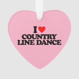 I LOVE COUNTRY LINE DANCE ORNAMENT