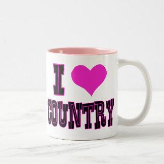 I Love Country Coffee Mugs