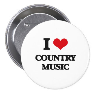 I love Country Music 7.5 Cm Round Badge