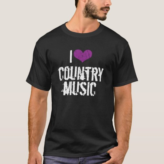 I Love Country Music Dark t-shirt