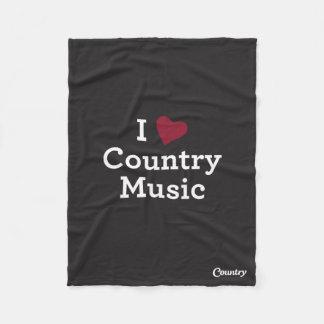 I Love Country Music Fleece Blanket