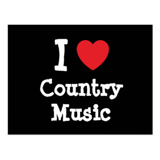 I love Country Music heart custom personalized Post Card