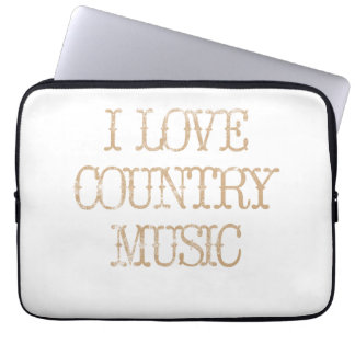 I Love Country Music Computer Sleeves