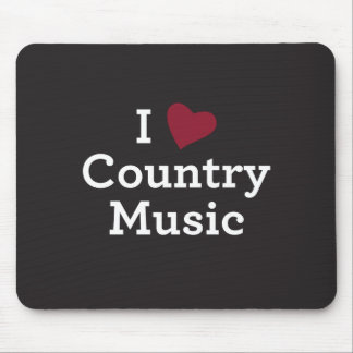 I Love Country Music Mouse Mat