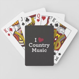 I Love Country Music Poker Deck