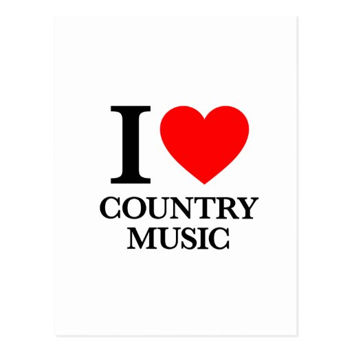 I Love Country Music Post Card