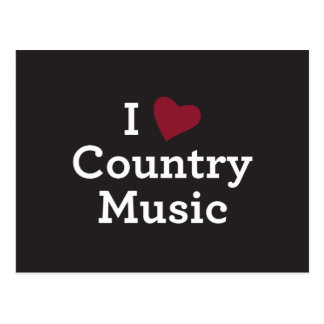 I Love Country Music Postcard