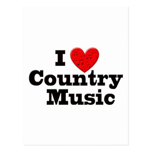 I Love Country Music Postcards