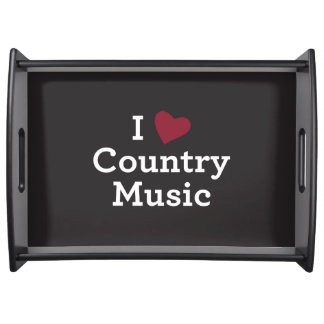 I Love Country Music Serving Tray