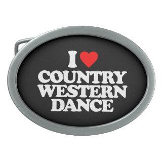 I LOVE COUNTRY WESTERN DANCE BELT BUCKLES