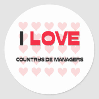I LOVE COUNTRYSIDE MANAGERS CLASSIC ROUND STICKER