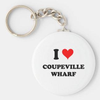 I Love Coupeville Wharf Keychain