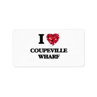 I love Coupeville Wharf Washington Address Label