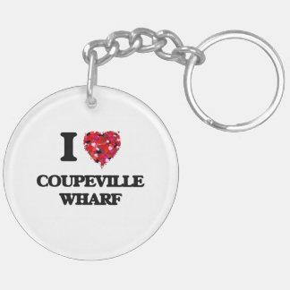 I love Coupeville Wharf Washington Double-Sided Round Acrylic Key Ring