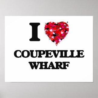 I love Coupeville Wharf Washington Poster