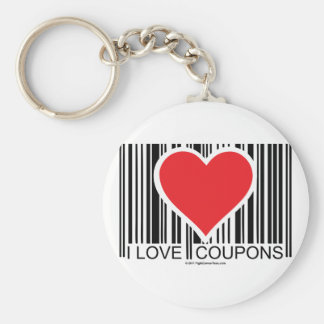 I Love Coupons Basic Round Button Key Ring