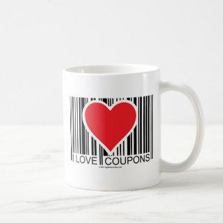 I Love Coupons Basic White Mug