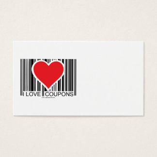 I Love Coupons Business Card