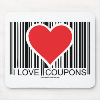 I Love Coupons Mouse Mat