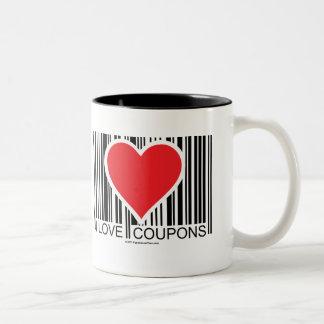 I Love Coupons Two-Tone Mug