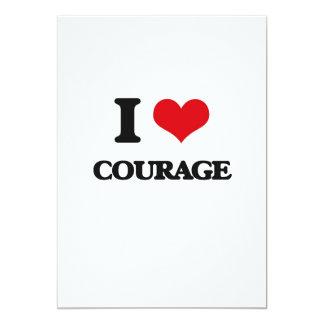 I love Courage 5x7 Paper Invitation Card