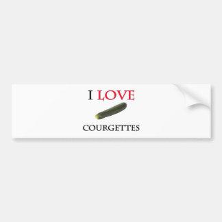 I Love Courgettes Bumper Sticker