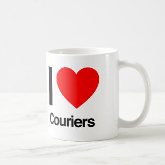 i love couriers coffee mug