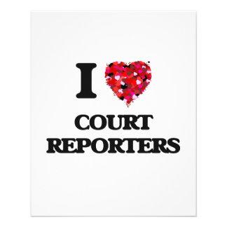 I love Court Reporters 11.5 Cm X 14 Cm Flyer