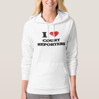 I love Court Reporters (Heart made from words) Hooded Pullover