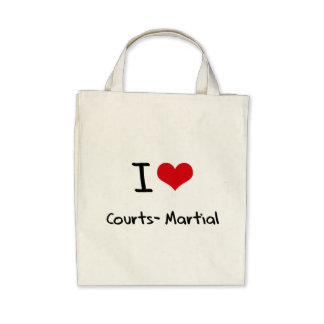 I love Courts-Martial Tote Bag