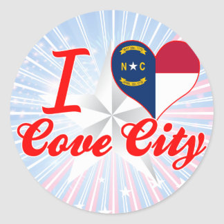 I Love Cove City, North Carolina Stickers