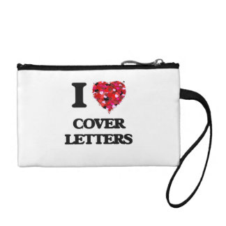 I love Cover Letters Coin Wallet