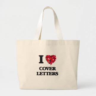 I love Cover Letters Jumbo Tote Bag