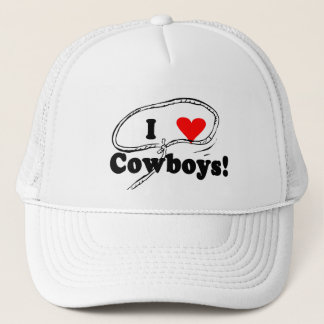 I Love Cowboys T-shirts and Gifts. Trucker Hat