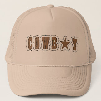 I Love Cowboys Western Trucker Hat